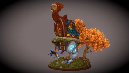 Baba Yaga's Hut 3D Model