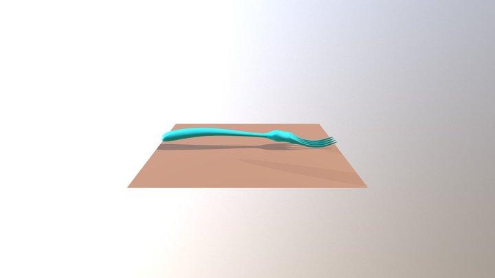 Tenedor Alejandro 3D Model