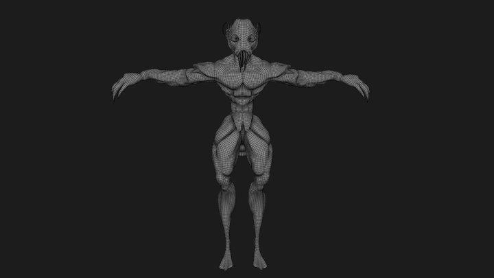 Alien_Asset_for_download_(CC0) 3D Model