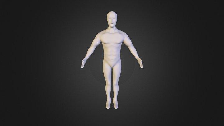 Male Model WIP 3D Model