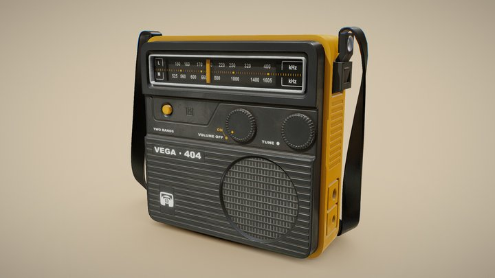Retro Portable Radio Vega 3D Model