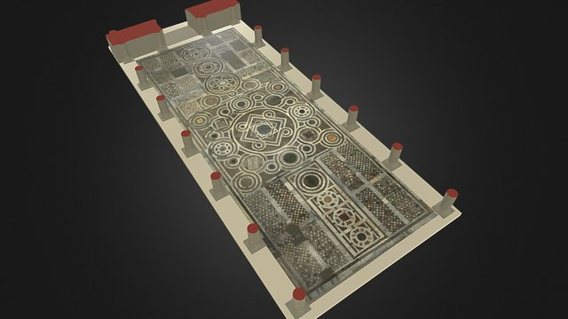 Byzantine Mosaic Floor_Cathedral Sessa Aurunca 3D Model
