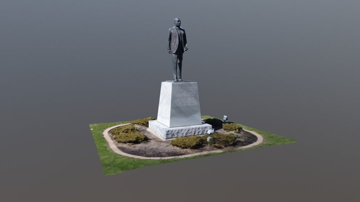 Anderson Martin Luther King Statue 3D Model