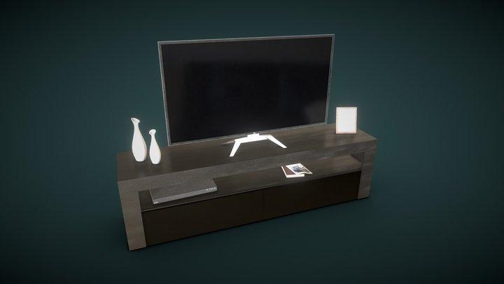 Modern Entertainment Center (FREE) 3D Model
