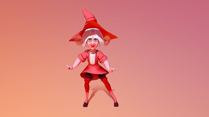 Small witch (downloadable) 3D Model