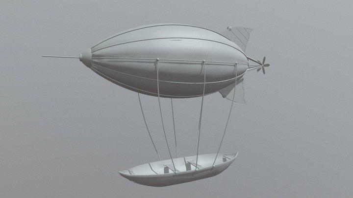 Airship | 3D-model | steampunk | fbx 3D Model