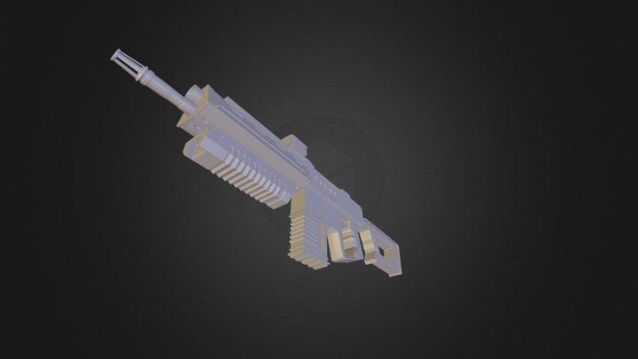 Assault Rifle 1 3D Model