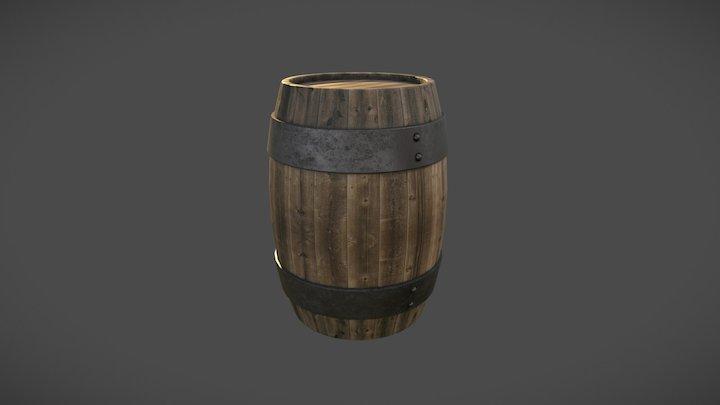 Barril de madera / Wood Barrel 3D Model