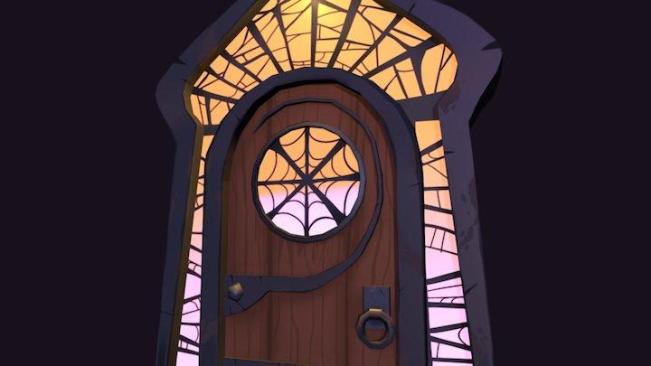Spooky Spider Door 3D Model