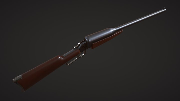 J.E.Bissell Internally Suppressed System rifle 3D Model