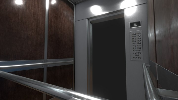Easy Elevator Model 3D Model