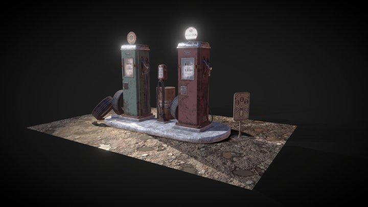 Gasoline_Station 3D Model