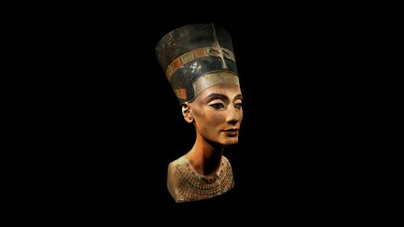 Nefertiti's bust (like in the museum) 3D Model