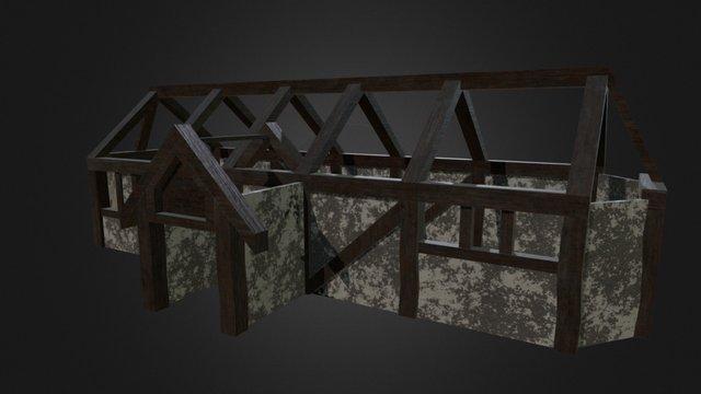 Burnt Roman Farmhouse (WebGL Asset) 3D Model