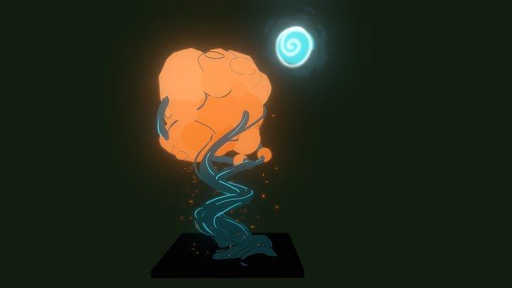 Glowing Tree 3D Model
