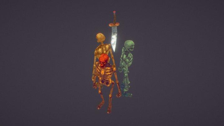 PS1 | Skeletons 3D Model