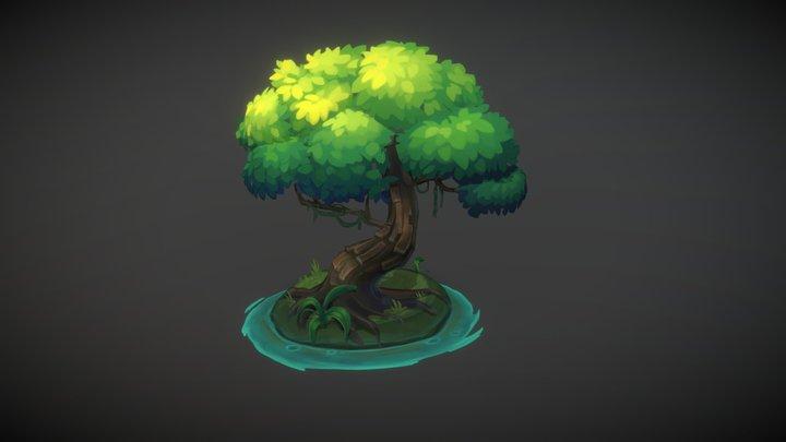 Oak by the Water 3D Model