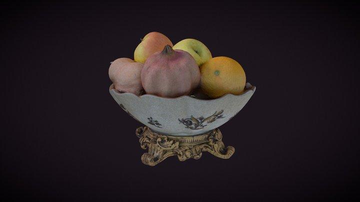 Fruit on table 3D Model