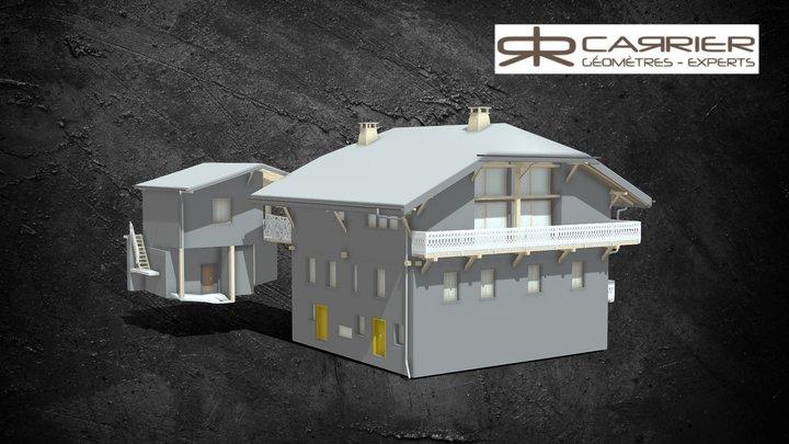 Habitation avec dépendance - Maquette 3D 3D Model