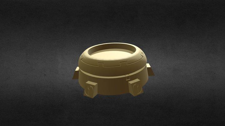 Tau Building-Dome Open Top 3D Model