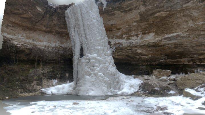 Frozen Waterfall, Tipova, Moldova 3D Model