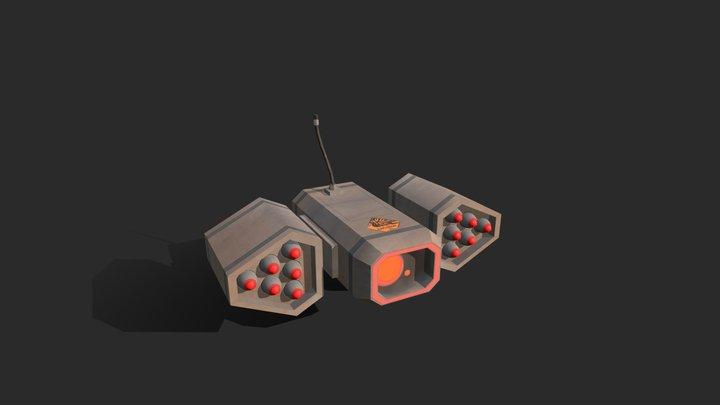 """Heavy robot Enemy for """"Overgrown"""" 3D Model"""