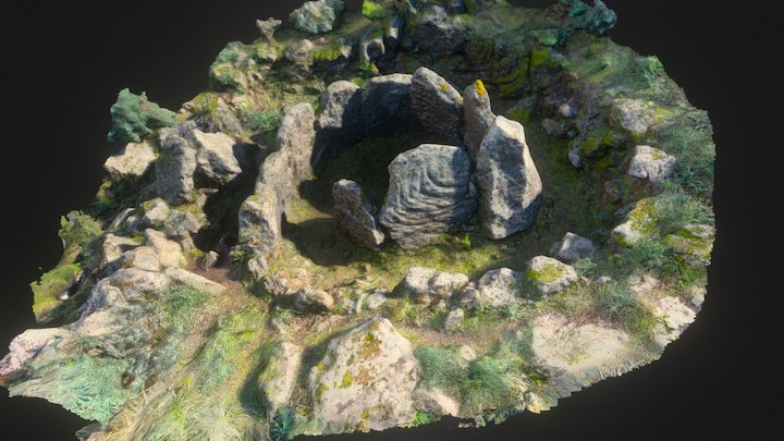 Megalithic spiral in Balze Soprane 3D Model
