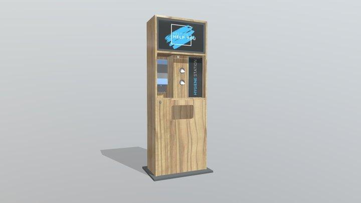 Custom Hygiene Kiosk 3D Model