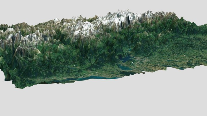 Alpes terrain 3D Model