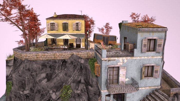CityScene Manarola during Fall 3D Model