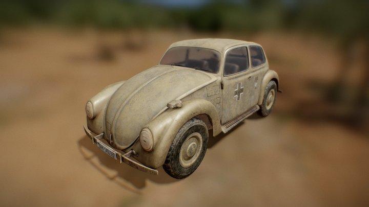 VW Typ.87 WW2 Afrika Korps staff car 3D Model