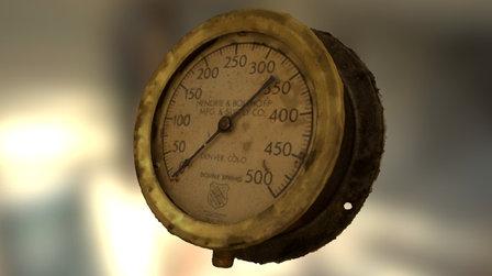 Steampunk Gauge 3D scanned 3D Model