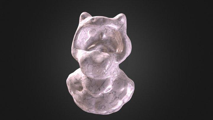 Screaming Frog-Man Bust 3D Model