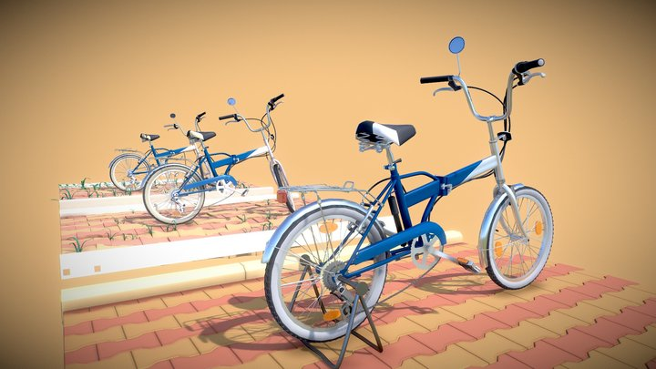 Bicycle | New, Old, Destroyed | Detailed Draft 3D Model
