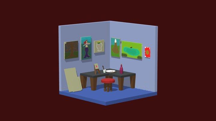 Isometric Art Studio 3D Model