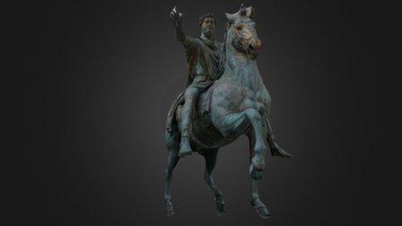 Equestrian Statue of Marcus Aurelius 3D Model