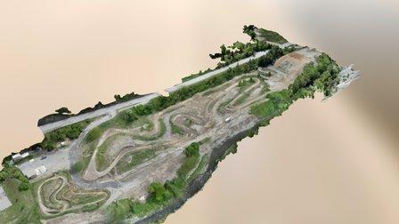 Terrain Moto Cross 3D Model