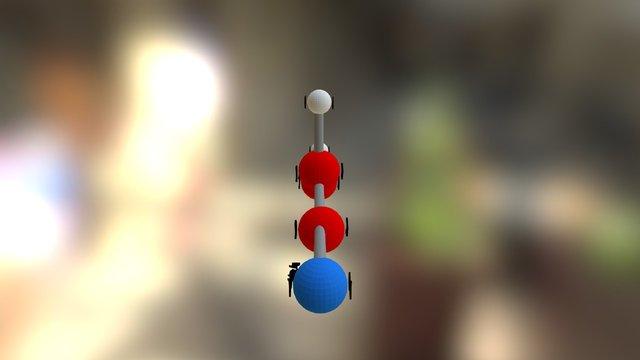 Acrylonitrile 3D Model