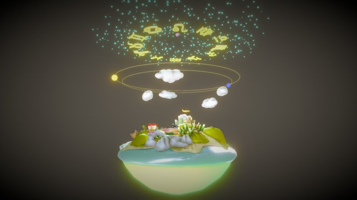Vedic earth 3D Model
