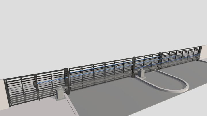 Blue Heron Obsidian Community Gate Revision 2 3D Model