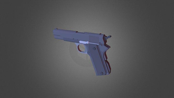 Minecraft Colt M1911 3D Model