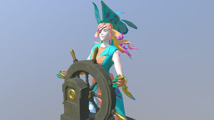 Pirate Captain Xala 3D Model