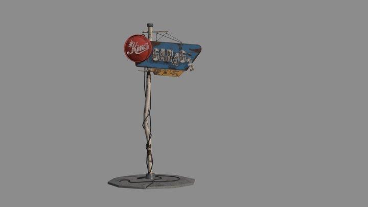 Garage Sign 3D Model