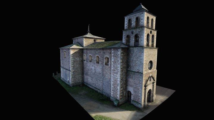 IGLESIA SANTA COLOMBA, VILLAR DE LOS BARRIOS 3D Model
