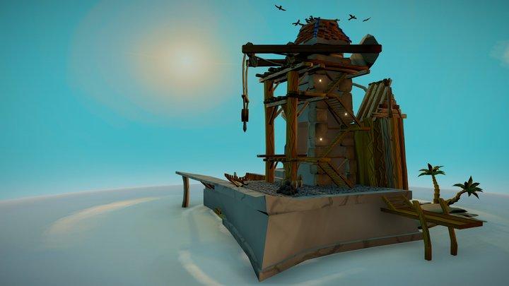 Boatmaker's Island 3D Model
