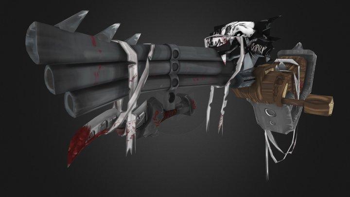Stylized dwarf gun - Inspired by WoW 3D Model