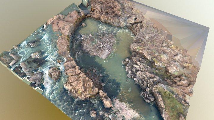 Hrafnabjargafoss (Raven Falls), Iceland - WIP 3D Model