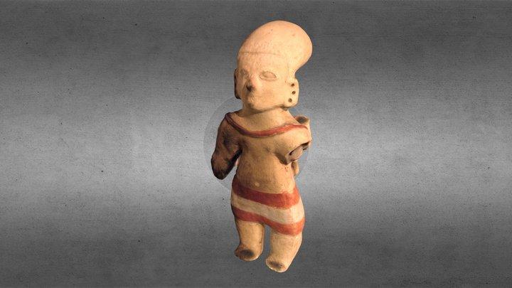 Silbato cultura La Tolita 3D Model