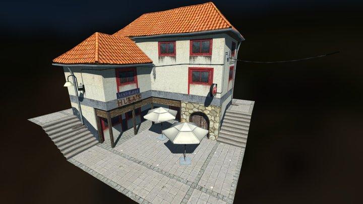 Diorama Restaurant (Baked Lighting) 3D Model