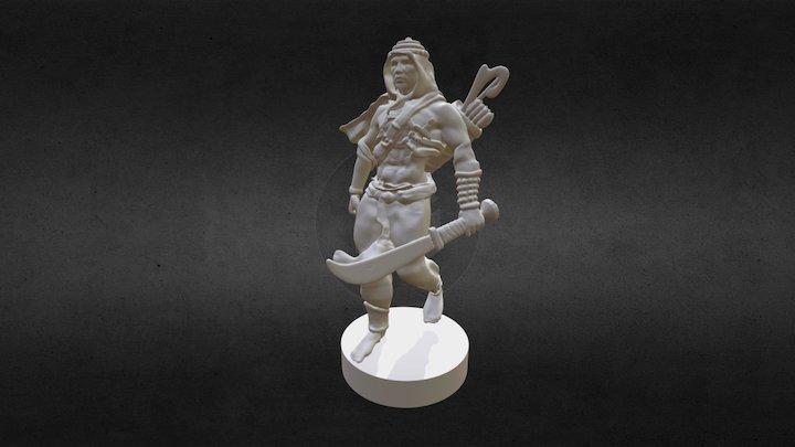 Warrior Figurine 3D Model